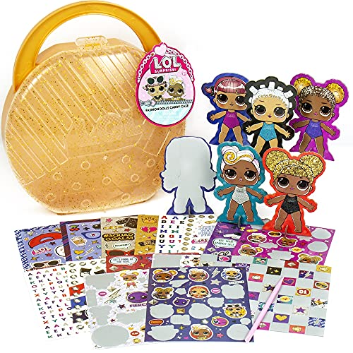 L.O.L. Surprise! Fashion Dolls Carry by Horizon Group USA. Create, Play & Store,DIY Activity Kit.Recreate Looks for 5 Paper Dolls,Repositionable Stickers.Scratch Art Stickers, Storage Case & More.