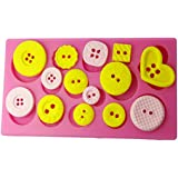 FOUR-C Gum Paste Decorating Tools Button Cake Decorating Mold Color Pink