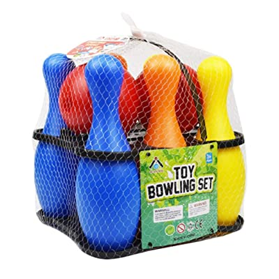 NUOBESTY Bowling Pins Ball Toys Set Indoor Family Games Educational Toy Bowling Toy for Kids Children: Toys & Games [5Bkhe0303244]