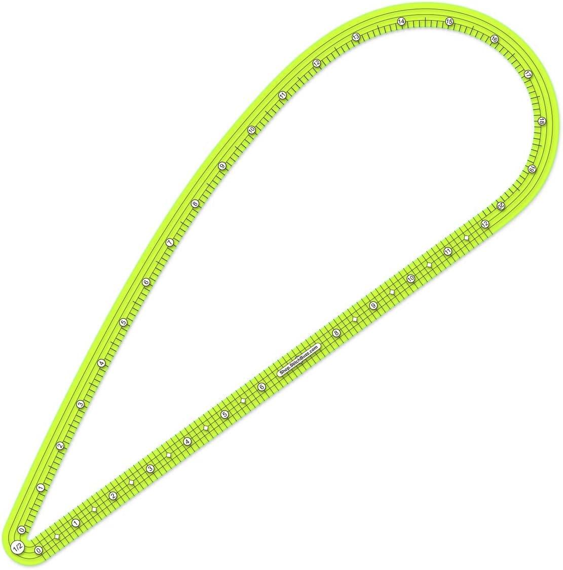 1//2 inch Seam Allowance Pattern Drafter Curve Ruler