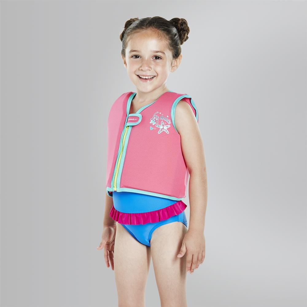 0b48015cb9323 Speedo Girls' Sea Squad Swim Vest: Amazon.co.uk: Sports & Outdoors