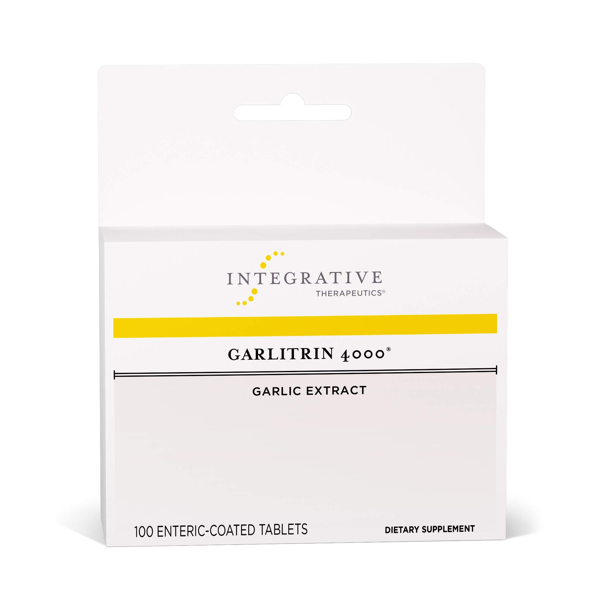 Integrative Therapeutics - Garlitrin 4000 - Garlic Extract - 100 Enteric Coated Tablets