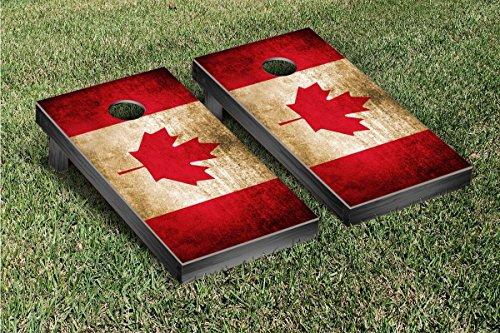 Canada Vintage Flag Cornhole Game Set (Cornhole Bags Canada compare prices)