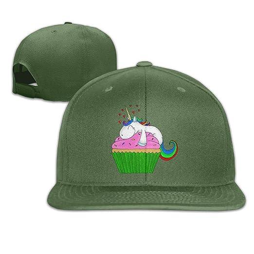 Image Unavailable. Image not available for. Color  Cupcake Unicorn Flat  Visor Baseball Cap ... ff8927ebc5ef