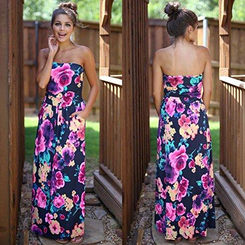 blue Vestido Mujer Vestido Mujer De Fiesta Fiesta Largo Imprimir Vestidos Vestido Para Mujer Vestido JIALELE De 1112 0a8wqdFq