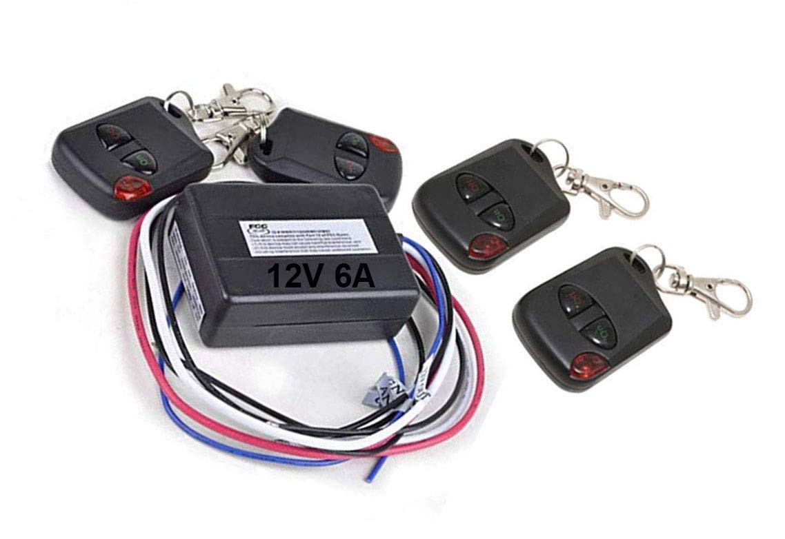 iMBAPrice/® Heavy Duty 12V 6 Amps Car and Boat Remote Channel Wireless Control On//Off