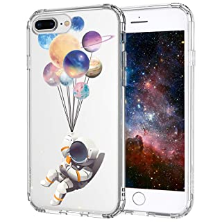 MOSNOVO iPhone 8 Plus Case, iPhone 7 Plus Clear Case, Astronaut Planet Pattern Printed Clear Design Transparent Plastic Back Case with TPU Bumper Protective Case Cover for iPhone 7 Plus/iPhone 8 Plus