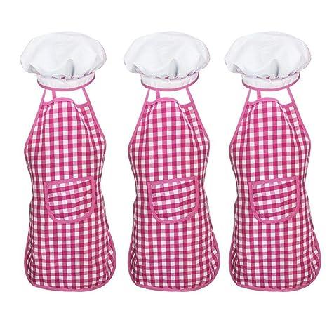 FOONEE 3 Piezas Set De Delantales De Gorro De Cocinero para ...