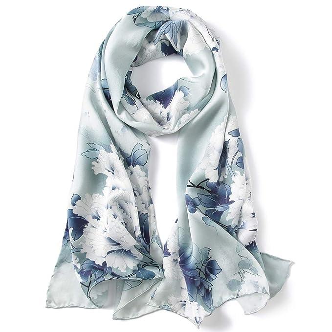 4e11b105c8c Silk Scarf Women Ladies 100% Silk Anti-allergy Neck Protection High Quality  Fashion Elegant Scarves(A variety of styles)