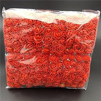 Mini Bouquet di Rose Artificiali per Decorazioni Nuziali in Schiuma Abilie Confezione da 144 Pezzi Coffee