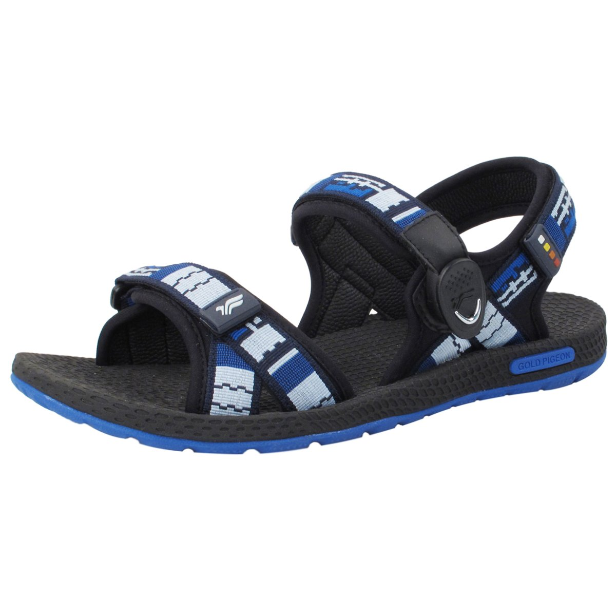 Gold Pigeon Shoes GP5931 Light Weight Adjustable Outdoor Water Sling Back Sandals for Men & Women B0796NB4W8 EU44: Men 11/11.5 (292.4mm)|8658 Blue With Snap Lock