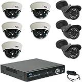 屋内外用 防犯 カメラ セット [ 屋外用グレー 3台 + ドーム型カメラ 5台 + レコーダー ] 防犯カメラ SET-A28RA