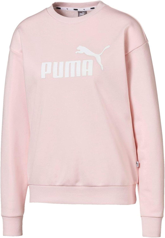 Donna Rosa Wei/ß Magliette PUMA Essential Logo Crew Sweatshirt