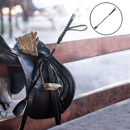 3Pcs Horse Riding Crop and Riding Crop Jump Bat Soft Faux Leather Harnes Handle