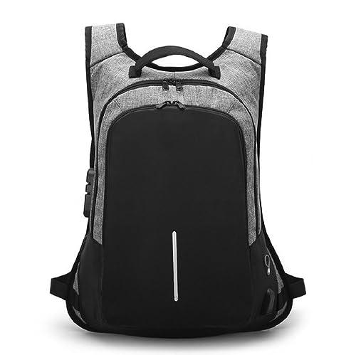 KAIMENG mochila de viaje portátil mochila de negocios profesional con puerto de carga USB, mochila escolar para mujeres hombres (gris): Amazon.es: Zapatos y ...