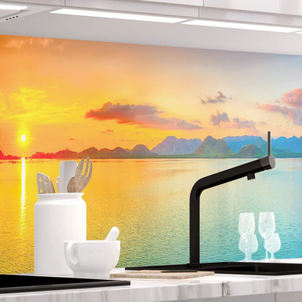 StickerProfis Küchenrückwand selbstklebend Pro Pro Pro Sundowner 60 x 340cm DIY - Do It Yourself PVC Spritzschutz 40661a