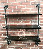 pipe shelf, steampunk furniture, wall shelves, industrial shelves, industrial shelf, pipe sheving , wall shelf, 3 tiers, steampunk decor