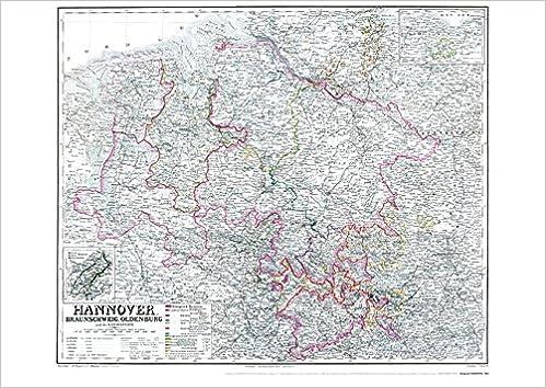 Historische Landkarte Konigreich Hannover 1865 Plano Mit Dem