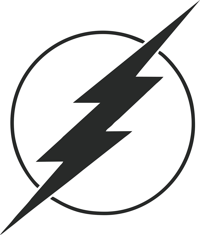 DC COMICS THE FLASH LOGO STICKERS SYMBOL 5.5