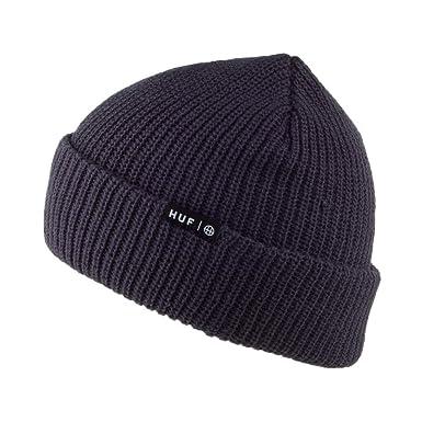 58e5bb0dbe2 HUF Usual Beanie Hat - Navy Blue 1-Size  Amazon.co.uk  Clothing
