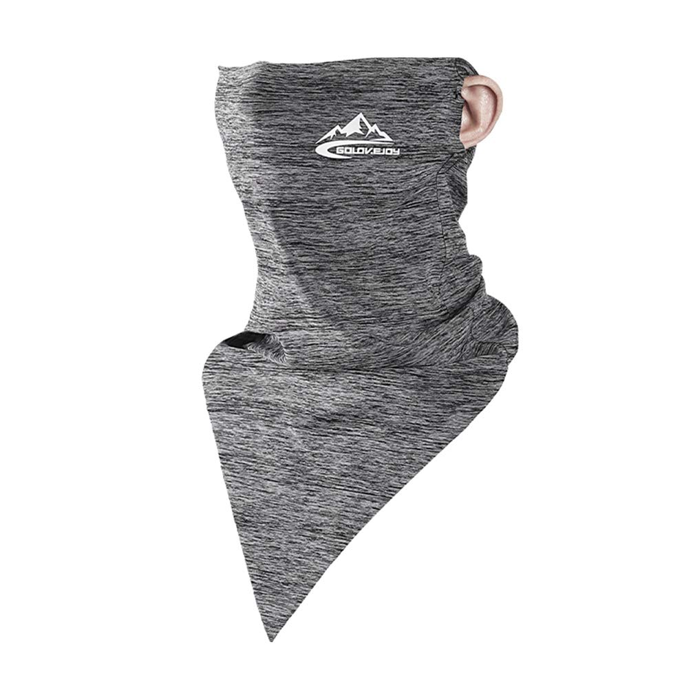 Bigood Outdoors Ice Silk Windproof Breathable Dust Sun Protection Cooling Neck Gaiter Face Mask