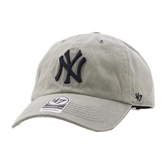 47 Brand MLB NY Yankees Cement Cap - Gray  Amazon.fr  Vêtements et ... 1a62107f2082