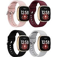 Pasek do zegarka Fitbit Versa 3 / Sense Band, klasyczny, miękki silikonowy pasek sportowy, zamiennik opaski do…