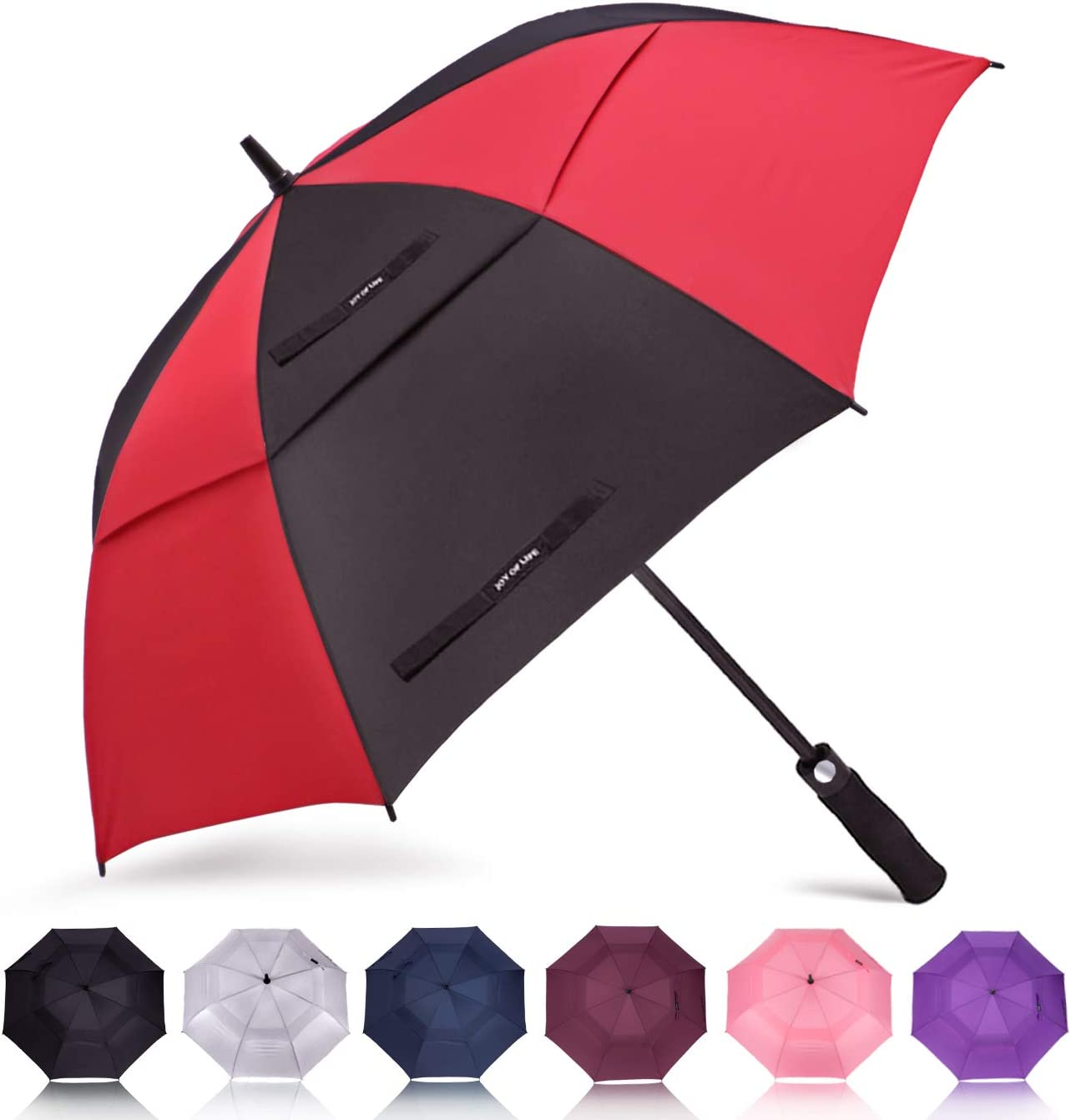 ZOMAKE Golf Umbrella 58/62/68 Inch, Large Windproof Umbrellas Automatic Open Oversize Rain Umbrella with Double Canopy for Men - Vented Stick Umbrellas