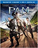 Pan [Blu-ray 3D + Blu-ray + DVD + Digital Copy] (Bilingual)