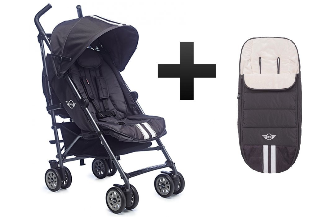 8fd4f7adc2 Mini by EasyWalker Buggy Thunder Grey Plus Free Easy Walker Thunder Grey  Footmuff  Amazon.co.uk  Baby