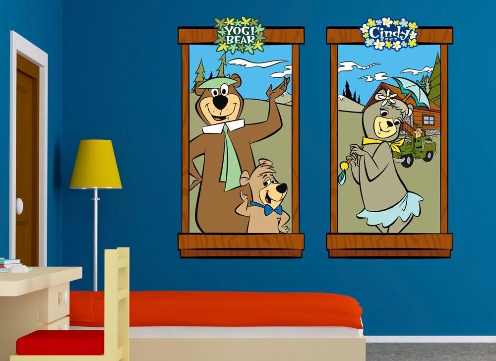 "Yogi Bear with picnic basket bumper sticker wall decor vinyl decal 4/""x 5/"""