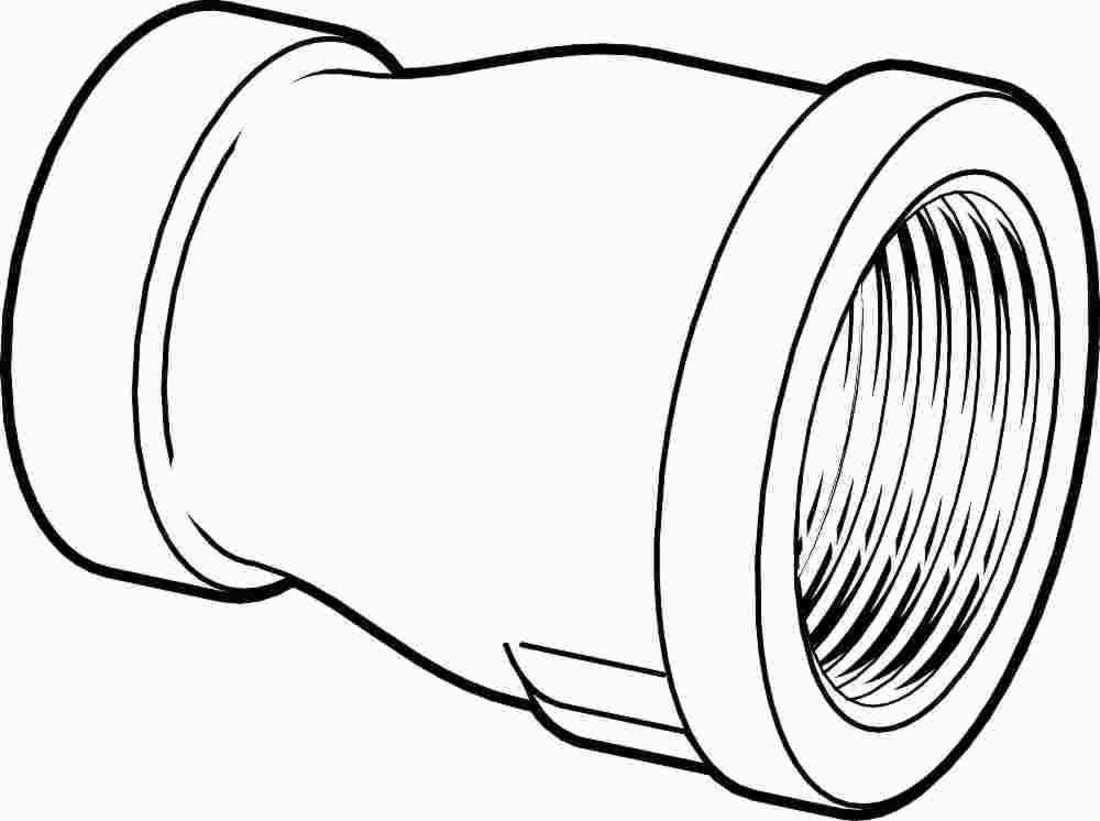 1//4-44166 PROPLUS GIDDS-44166 Galvanized Malleable Coupling