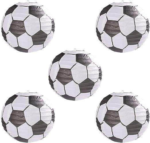 Uonlytech 5 piezas balón de fútbol linterna de papel deportes ...
