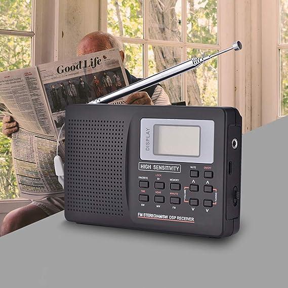 C- Mini Radio FM Receptor de Radio portátil Soporte FM/Am/SW/LW/TV ...