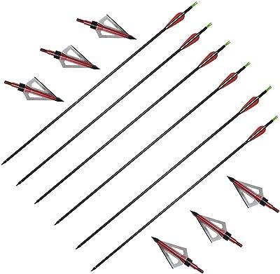 Huntingdoor Archery 31 Inch 6pcs Carbon Arrows