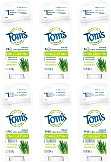 product image for Tom's of Maine Long Lasting Deodorant,Refreshing Lemongrass, 2.25 Ounce, Pack of 6
