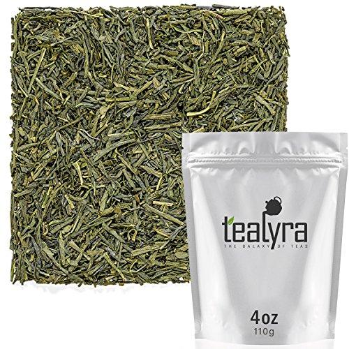 Tealyra - Sencha Fukujyu - Premium Japanese Green Loose Leaf Tea - Organicaly Grown - Antioxidants Rich - Caffeine Medium - 110g (4-ounce) ()