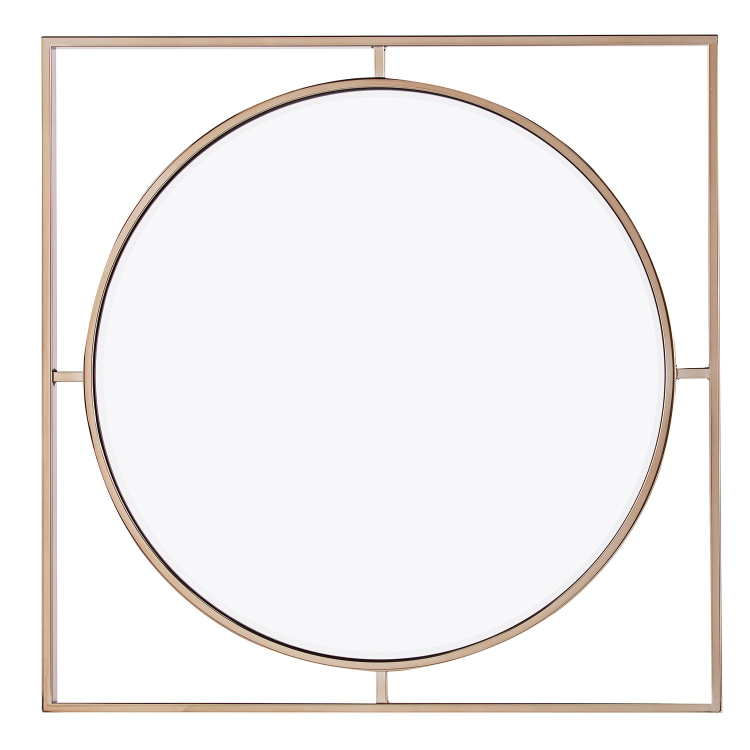 Furniture HotSpot Gold Round Wall Mirror – 32 W x 1.5 D x 32 H