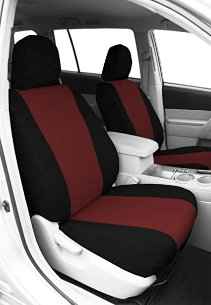 Miraculous Caltrend Burgandy Water Proof Cordura Front Buckets Custom Fit Seat Cover For Select Toyota Tacoma Ty529 15Cc Frankydiablos Diy Chair Ideas Frankydiabloscom