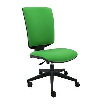 Silla oficina giratoria tapizada, respaldo y asiento ergonómicos con ...