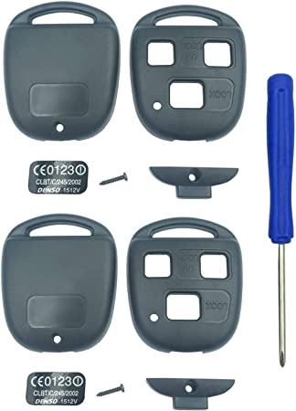 Newest Keyless Entry Remote Control Key Replacement Key Fob Case Shell Fits for Lexus ES GS GX is LS LX RX SC IS300 LX470 GX470 RX300 Key Fob Cover Case Pack 2