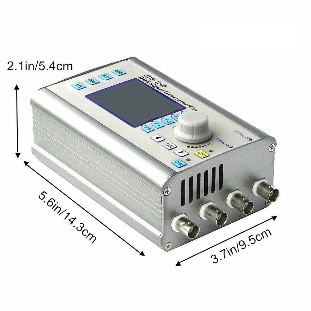 Jds2600 15mhz Cnc Dual Channel Arbitrary Waveform Dds Signal Meter Lcr Gm328a Test Clip For Sale Electroniccircuitsdiagrams Generator Pulse Source Frequency