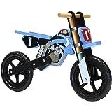 Charles Bentley Wooden Balance Bike Motorbike Design Age 3+ - Blue