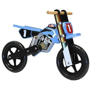 Charles Bentley Wooden Balance Bike Motorbike Design Age 3 Blue