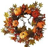 V-Max Floral Decor 24'' Pumpkin Wreath