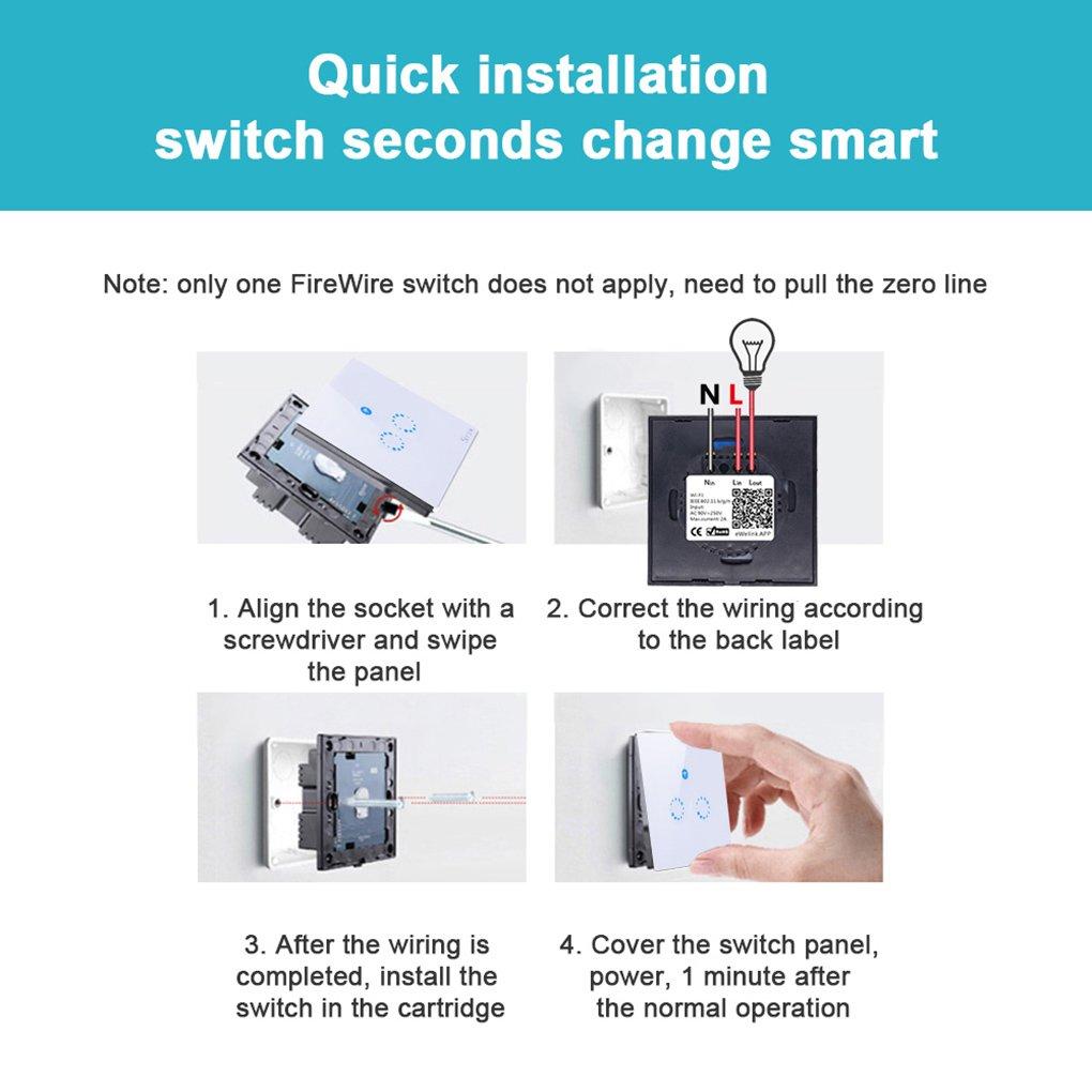 2 gang Smart Alexa Lichtschalter Wifi,Sonoff Lichtschalter ...