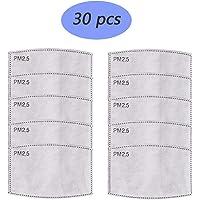 30 Pcs Juego de filtros antipolvo para máscara