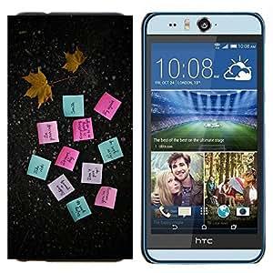 TECHCASE---Cubierta de la caja de protección para la piel dura ** HTC Desire Eye ( M910x ) ** --MOTIVACIÓN POSTE NOTAS
