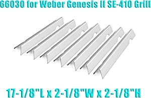 """PETKAO 17-1/8"""" Stainless Steel Flavorizer Bars for Weber Genesis II SE-410 Grill, 7PCS, 18GA"""