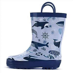Sweepstakes: landchief Children's Rubber Printed Rain Boots Waterproof...